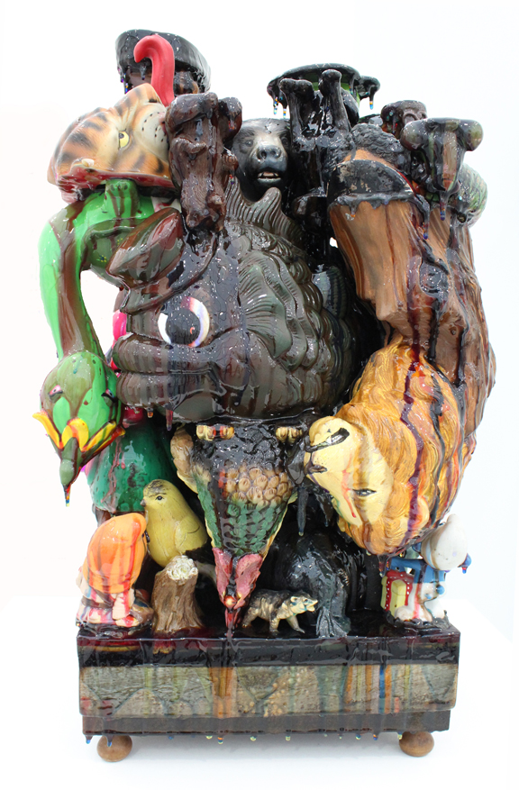 Jared_Clark_Untitled Miami Beach 2015 OSO NEGRO Bear Ceramic and resin